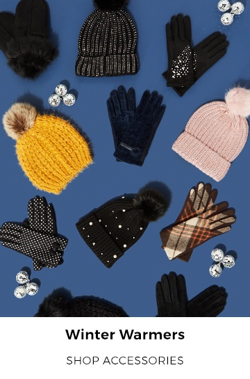 Finish off your look in style with our selection of winter accessories.