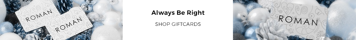 Always be right! Gift cards available now at Roman Originals